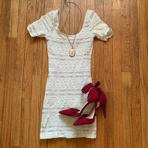 Abercrombie lace dress with grey underlay